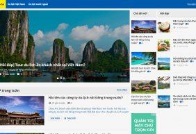 Mẫu giao diện website du lịch
