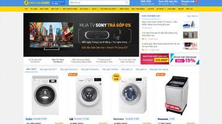 Thiết kế web giống dienmayxanh.com giá như thế nào?