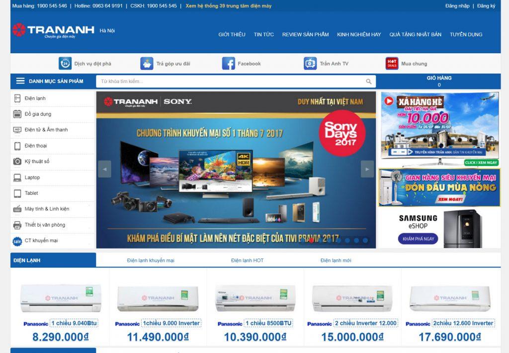 Thiết kế web giống trananh.vn hết bao tiền?